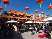 Hong Kong syndar tai-tempelwong Arkivbild