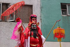 Hong Kong, Tai Kok Tsui, Świątynny jarmark 2015 Obrazy Royalty Free