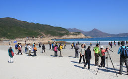 Hong Kong Tai Long Sai Wan hiking event Royalty Free Stock Photo