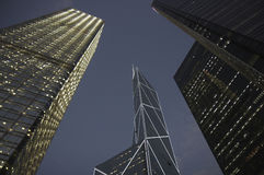Hong Kong Tall Buildings and Skyscrapers Stock Photos