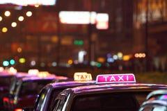 Hong Kong taxar Fotografering för Bildbyråer
