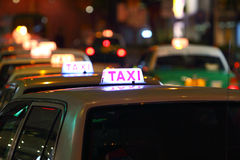 Hong Kong Taxi Stock Photos
