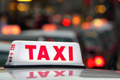 Hong Kong Taxi Royalty Free Stock Photos