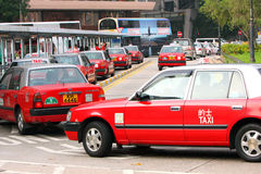Hong Kong Taxi Stock Images