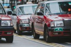 Hong Kong Taxi Cab fotografering för bildbyråer