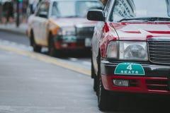 Hong Kong taxi taksówka obrazy royalty free