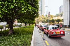 Hong Kong taxis Stock Photo