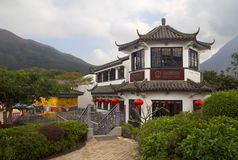 Hong Kong. The tea house on Lantau island Stock Images