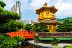 Hong Kong tempelpaviljong av absolut perfektion i Nan Lian Royaltyfri Fotografi
