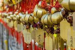 Hong Kong Temple Notes imagens de stock royalty free