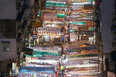 Hong Kong : Temple Street Stock Photography