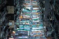Hong kong temple street stock photo