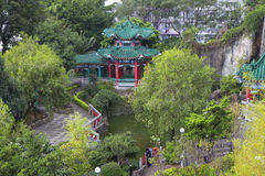 Hong Kong. The temple of Wong tai Sin. The view of the landscape. Royalty Free Stock Image