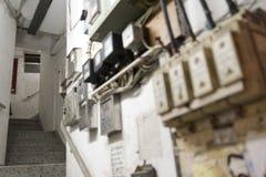Hong Kong Tenement House Stairs Imágenes de archivo libres de regalías