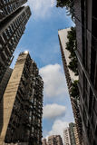 Hong Kong tenements Royalty Free Stock Photos