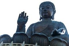 Hong Kong. The Tian Tan Buddha in Hong Kong ,  on white background Royalty Free Stock Photo