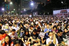 Hong Kong tiananmen vaka Royaltyfri Bild