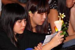 Hong Kong tiananmen vaka Arkivfoton