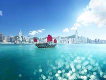 Hong Kong and tilt shift effect. China stock photo