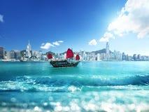 Hong Kong and tilt shift effect. China stock image