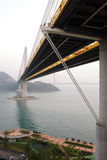 Hong Kong : Ting Kau Bridge. Ting Kau Bridge is a 1,177-metre long cable-stayed bridge in Hong Kong that spans from the northwest of Tsing Yi Island and Tuen Mun Stock Images