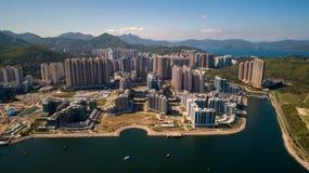 Hong Kong TKO with Hong Kong Velodrome Park. Drone view Royalty Free Stock Photography