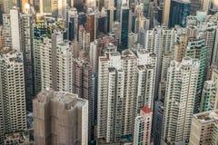 Hong Kong Top View Fotografie Stock