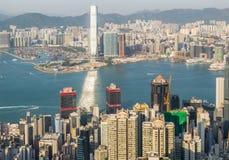 Hong Kong Top View Royalty Free Stock Photography