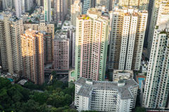 Hong Kong Top View Royalty Free Stock Images