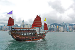 Hong Kong tourist junk Royalty Free Stock Images