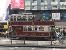 Hong Kong Tourist Tramway Stockfotografie