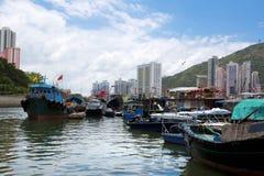 Hong Kong, traditional junks in the Aberdeen Stock Photos