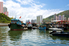 Hong Kong traditionella skräp i Aberdeenen Arkivbilder