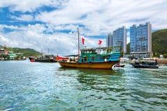 Hong Kong traditionella skräp i Aberdeenen Royaltyfri Bild