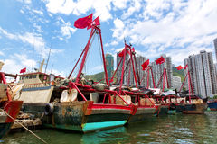 Hong Kong traditionella skräp i Aberdeenen Arkivfoto