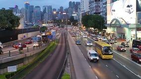 hong kong traffic απόθεμα βίντεο