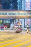 Hong Kong Traffic alla notte Immagini Stock Libere da Diritti