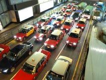 Hong Kong Traffic Jam. This is the traffic jam in Hong Kong at night Royalty Free Stock Photo