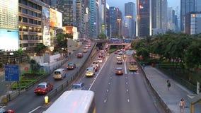 Hong Kong traffic. HONG KONG - JULY 17: Road traffic in Hong Kong, July 17, 2011. With sound. Filmed at 50 fps stock footage