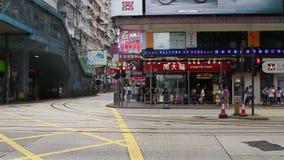 Hong Kong traffic. HONG KONG - JULY 17: Road traffic in Hong Kong, July 17, 2011. With sound. Filmed at 50 fps stock video