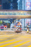 Hong Kong Traffic nachts lizenzfreie stockbilder