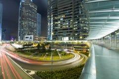 Hong kong traffic night Stock Photo
