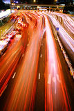 Hong kong traffic night Royalty Free Stock Images