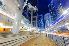 Hong kong traffic night Royalty Free Stock Photo
