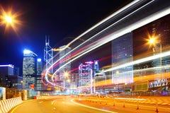 Hong Kong traffic trail Royalty Free Stock Images