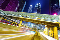 Hong Kong traffic trail Royalty Free Stock Image