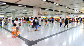 Hong kong train station Royalty Free Stock Photo