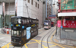 Hong Kong Tram Stock Photo