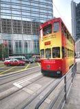 Hong Kong Tram at the CBD Stock Images
