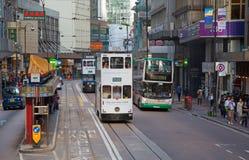 Hong Kong Tram Stock Photography